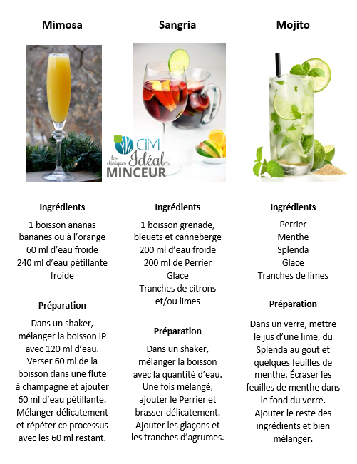 recette cocktail ideal protein