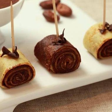 Crêpe roulée au chocolat