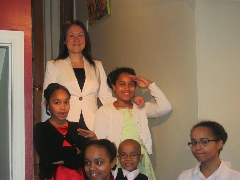 Nadine et ses 5 enfants! Coach du Samedi