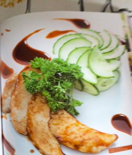 Poulet Teriyaki et salade de concombre