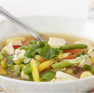 Recette soupe tofu et légumes
